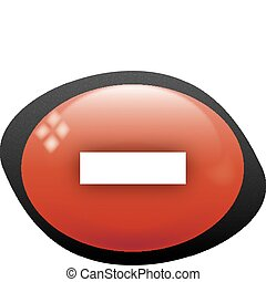 less oval red icon
