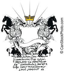 heraldic coat of arms ornament 5 - heraldic coat of arms...
