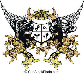 heraldic coat of arms ornament 9