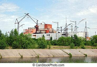 Chernobyl nuclear power station, ab - PRIPYAT, UKRAINE -...