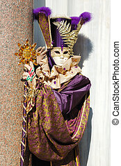 Mask at Venice carnival,Italy, 2011The annual carnival was...