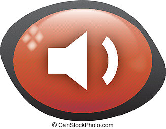 volume low oval red icon