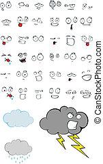 cloud cartoon set