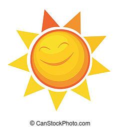 cartoon sun icon