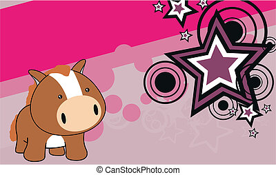horse baby cartoon background10a