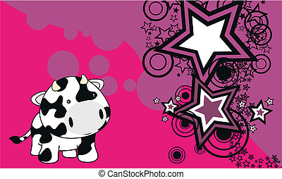 cow baby cartoon background3a - cow baby cartoon background...