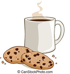 Cookies and Cocoa - Vector illustration of a mug of cocoa or...