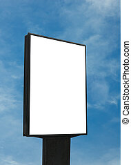 blank billboard, just add your text - blank billboard over...