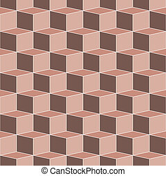 seamless terra cotta cubes - endless grid of earth-toned...