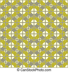 seamless mod tile pattern - fabulous retro vector tile with...