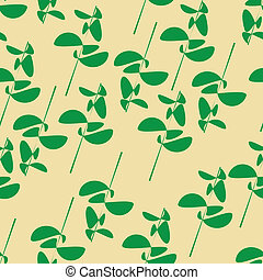 seamless green botanical pattern