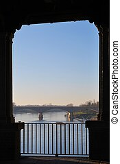 Ticino river in Pavia