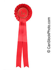red first place rosette studio cutout
