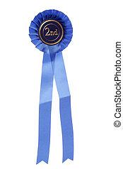 blue second place rosette studio cutout
