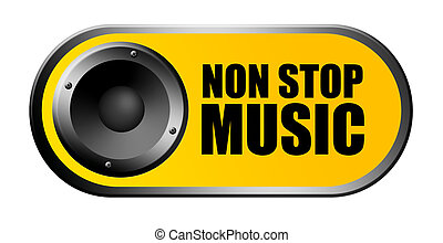 Non stop music - Yellow non stop music background with...