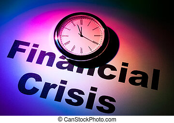 Financial Crisis - Clock and word of Financial Crisis for...