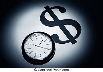 Dollar Sign - Clock and Dollar Sign for background