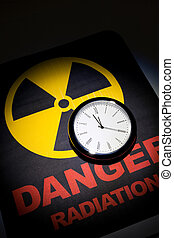 Radiation hazard sign for background