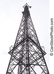 Communications Tower - Metal tower with various...