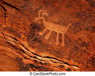 Historic Anasazi Petroglyph - Historic Anasazi petroglyph...
