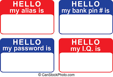 my alias is - name tags revealing personal info including...