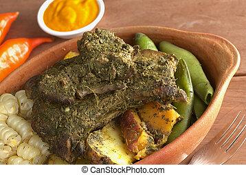 Peruvian Dish Called Pachamanca - Traditional Peruvian dish...