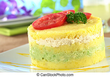 Peruvian Dish Called Causa - Peruvian dish called Causa made...