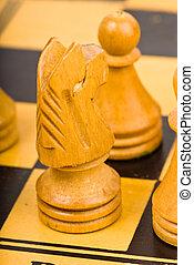chess battle closeup
