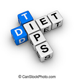 Diet Tips cubes crossword series