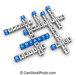 customer loyalty - costomer loyalty (blue-white cubes...
