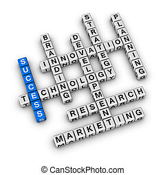 Business Success - Success of Business cubes crossword...