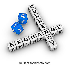 currency exchange dice - currency exchange crossword and red...