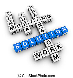 solution crossword blue-white cubes crossword series