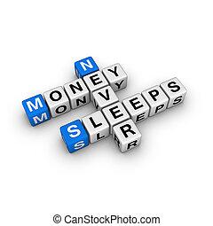 money never sleep - money never sleep (blue-white cubes...