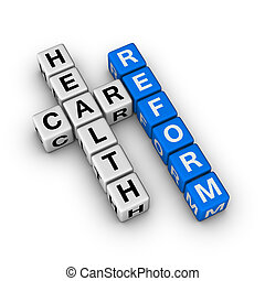 Healthcare Reform cubes crossword series