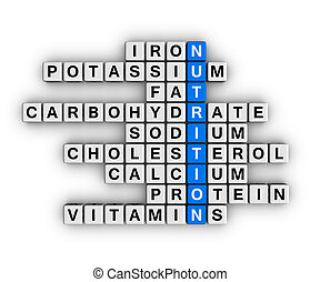 Nutrition Ingredient cubes crossword series
