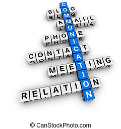 communication crossword blue-white cubes crossword series