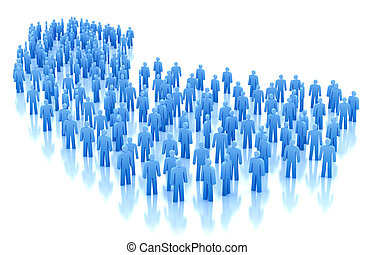 People crowd concept isolated on white