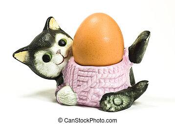 Cat eggcup