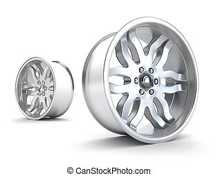 Car rims concept Isolated on white