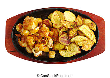 Seafood with Fried Potatoes