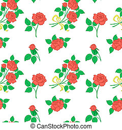Background, flowers rose - Vector floral seamless...