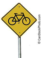 Bicycle Sign - Bicycle sign isolated on a white background