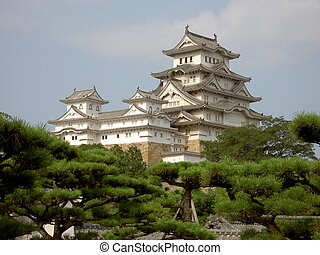 Himeji Castle - A hilltop Japanese castle complex located in...