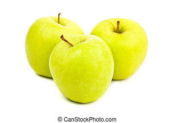 green apples isolated