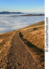 Mountain Path And Cloud Inversion - Mountain path and...