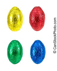 Chocolate Easter Eggs - Chocolate Easter eggs isolated...