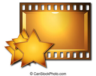 Lot stars and film - Lot stars and board with the film image...