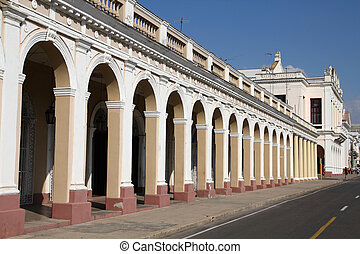 Cienfuegos, Cuba - Cuba - colonial town architecture Arcaded...