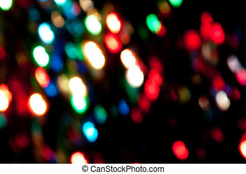 Lights texture - christmas lights; blurred coloured lights...